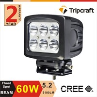 Factory Price 60w Led Car Ramp Lamp High Power 5inch Led Work Light For All Vehicles