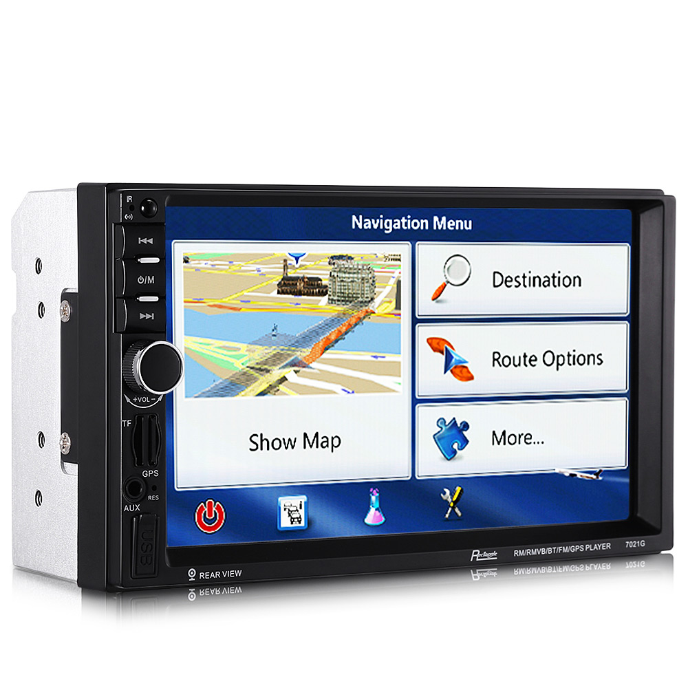 US $96 75  Rectangle 7021G 7 inch Bluetooth FM Radio GPS Car MP5 Player  with 720P Camera European Map-in Car CD Player from Automobiles &  Motorcycles