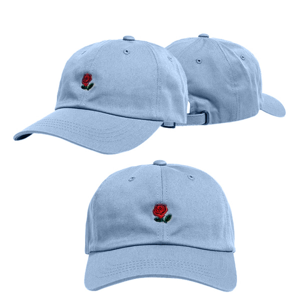 646997d9dfc FEITONG Wholesale brand baseball cap fitted hat Casual cap gorras Rose  Embroidery hip hop snapback hats