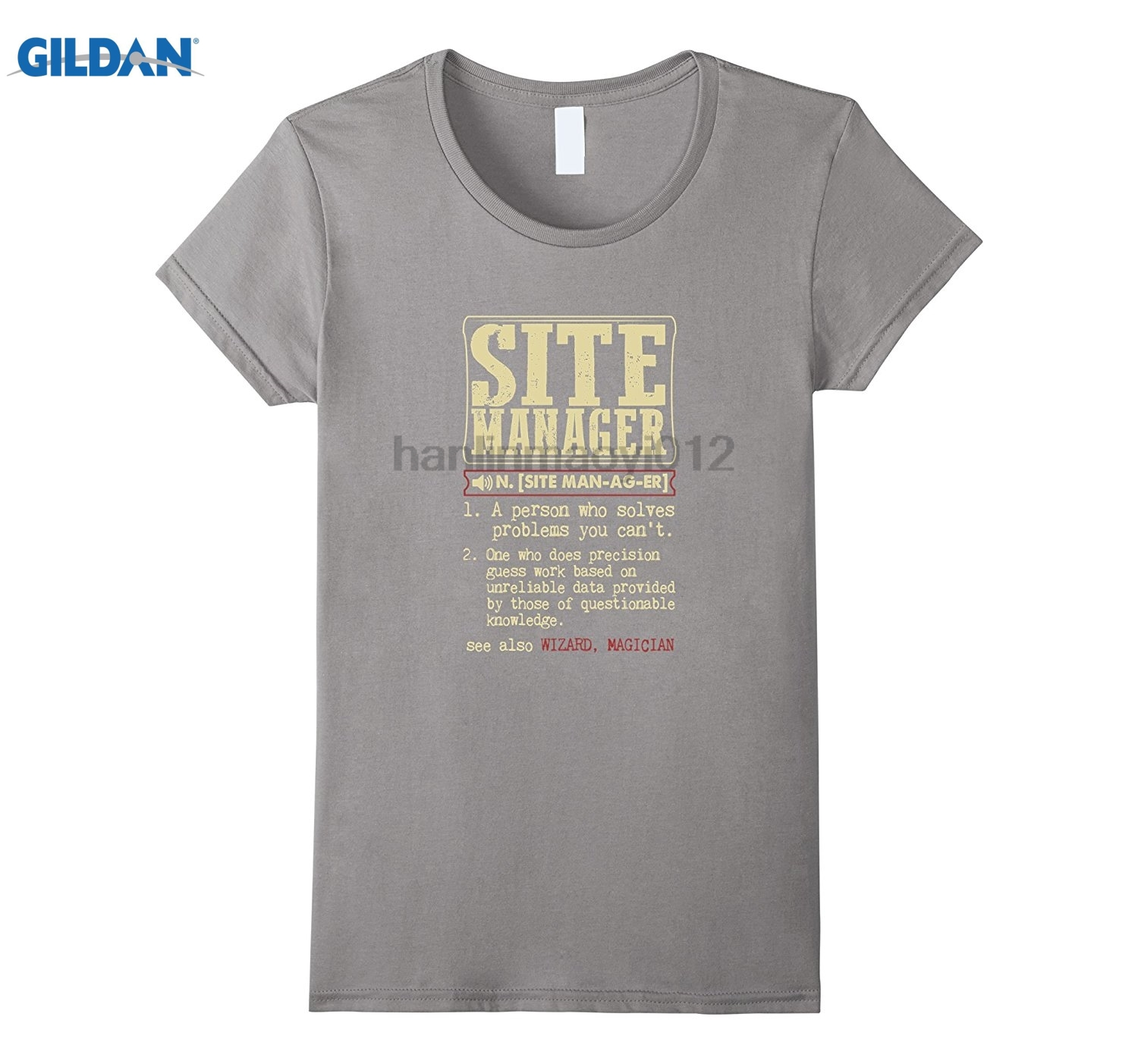 GILDAN Site Manager Dictionary Term T-Shirt Dress female T-shirt