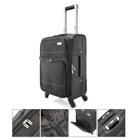 from DE 20 Oxford Black Rolling Luggage Spinner Suitcase On Wheels Travel Business Trolley Busy Board Boarding Cabin Luggage