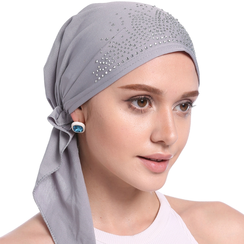 Women Cotton Headwear Fashion Muslim Inner Hijab Cap Islamic Underscarf Headwear  Hats Lady Soft Solid Bandanas New Gift 7d3b0b3b44a