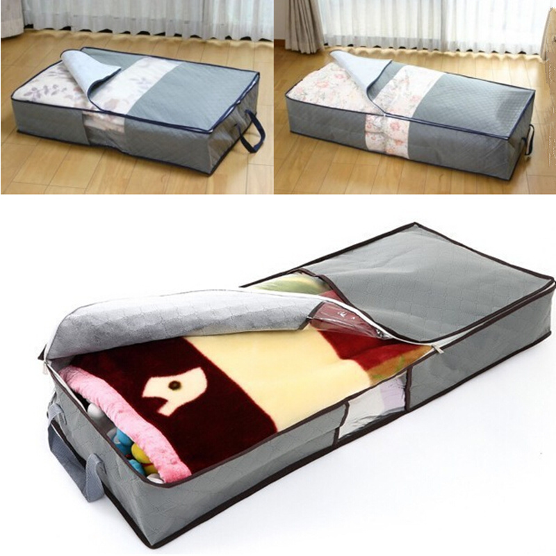 Safebet 70l Non Woven Family Underbed Cloth Quilt Divider Save Bag Household Storage Organization Bo Bins Transpa In Bags From Home