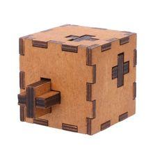 Nouveau suisse Cube en bois Secret Puzzle boîte bois jouet cerveau Teaser jouet pour enfants cerveau test jouets