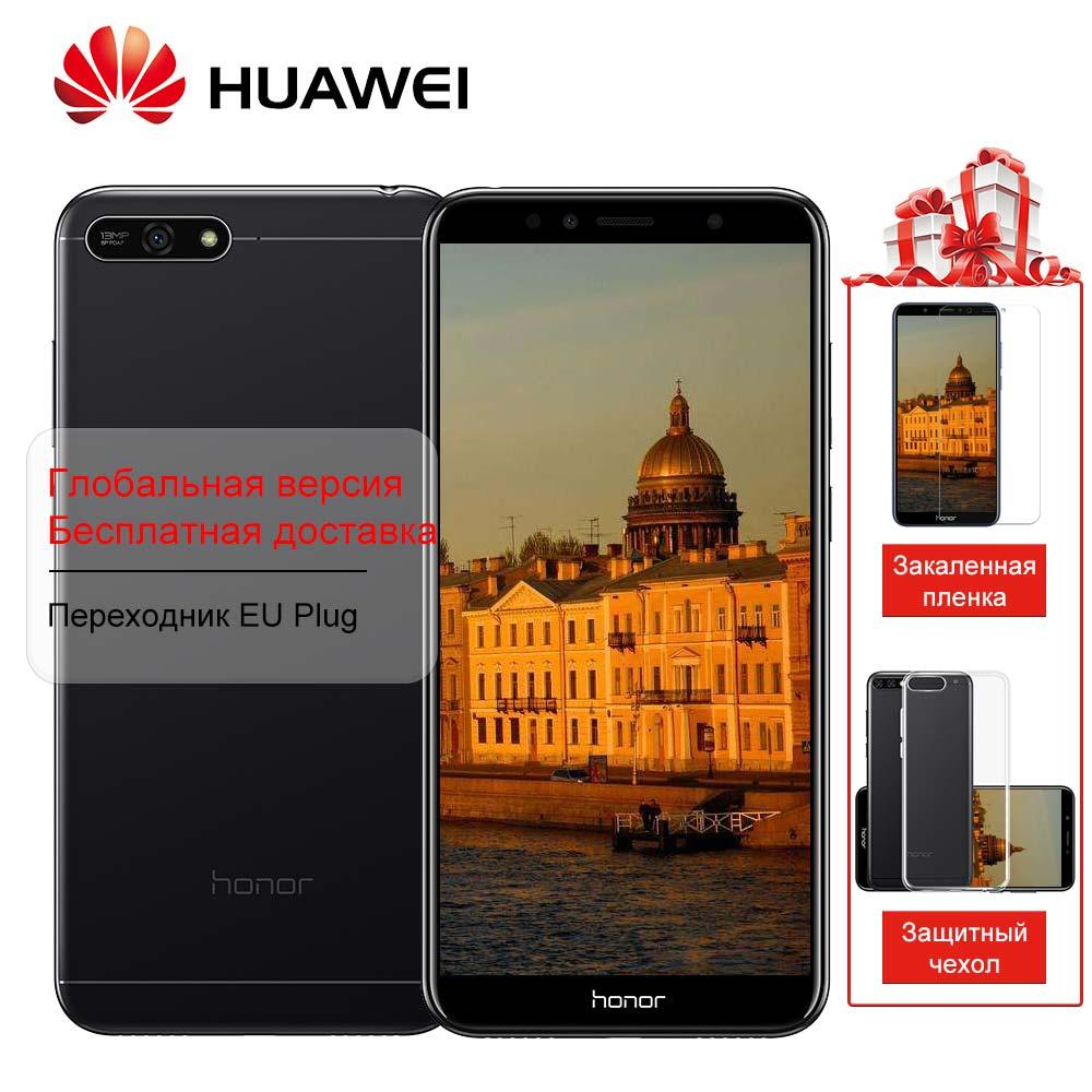 Huawei Honor 7A 2 ГБ 32 ГБ 4G LTE Мобильного Телефона Face ID Разблокировка 5,7 дюймов Полный Android 8,0