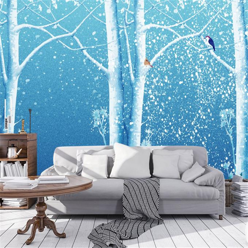 3D HD wallpaper Custom Nordic Minimalist Forest Fantasy Mural Living room Bedroom Background Elegance Wallpaper 3D Wall Murals custom baby wallpaper snow white and the seven dwarfs bedroom for the children s room mural backdrop stereoscopic 3d