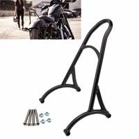 Motorcycle Burly Black Short Sissy Bar Backrest For Harley Sportster XL Nightster 883 1200
