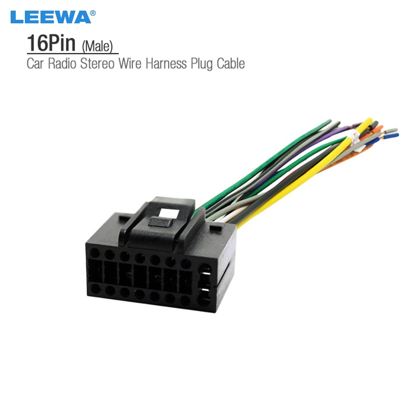 Car 16pin Stereo Wire Harness Plug Cable Male Connector For CHEVROLET AVEO LOVA SEDAN CHERY LANDWIND types of wire harness ford wiring harness connectors \u2022 free wiring wire harness connectors at mifinder.co