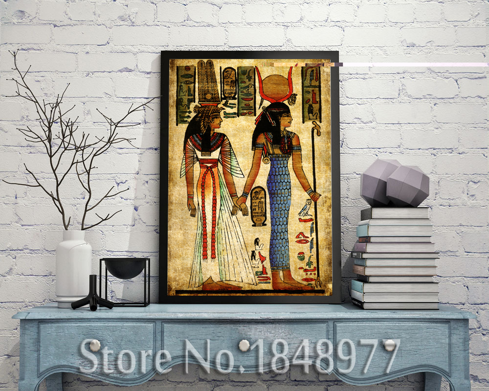 Egypt classic mural home decorative art abstract egyptian for Classic mural painting
