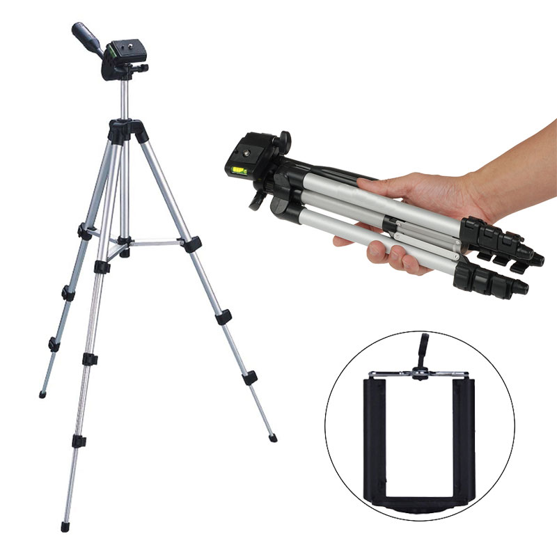 Professional Lightweight Tripod for Nikon d3300 d5300 Canon 6d Digital Camera Holder Mount for DSLR Camera Phone with Phone Clip