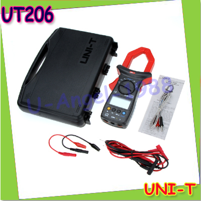 UNI-T UT206 3999 Count Auto Range DMM Digital Clamp Multimeters W/ Temperature Test Multimetro LCR Meter+free shipping  цены