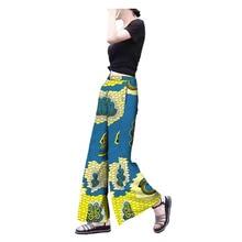 2018 african ankara print full length pants for women AFRIRPIDE tailor made mid waist wide leg casual women pants casual ethnic print wide leg pants for women