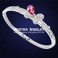 European Style Brand Brazalete Bracelet Pulseras Bangles For Women With Swarovski Elements Crystal Cristal Bijoux Charm Jewelry