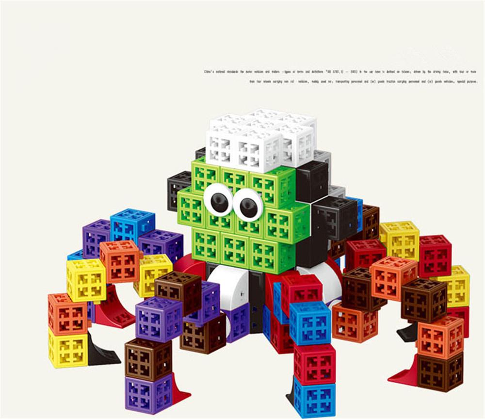 34/48/88/138/188pcs Blocks Cubes Unit Plastic Interlocking Construction Model Building Set of Early Educational Toys For Child 5