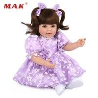 50 см принцессы Кукла Мягкая Силиконовая Винил Reborn реалистичные младенец Reborn boneca reborn дети куклы Baby Alive