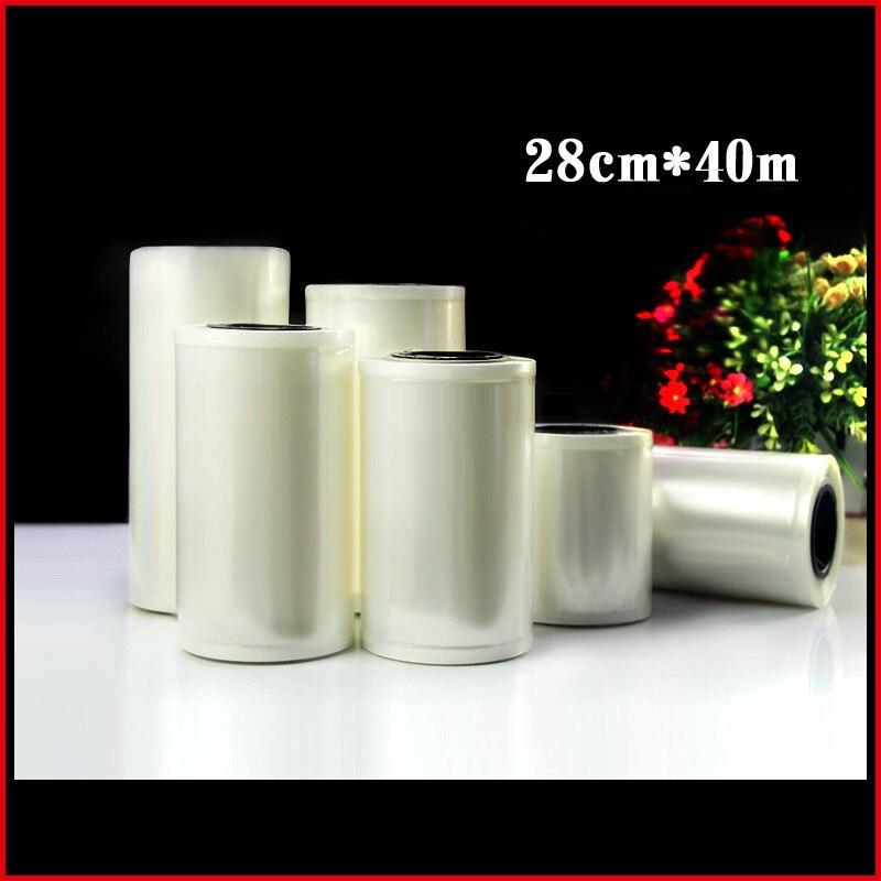 1roll/lots 28cm*4000cm*160micron Clear Freezer Vacuum Roll Film Plastic Packaging <font><b>Bags</b></font>,<font><b>Shopping</b></font> <font><b>Bag</b></font>