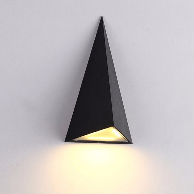 Outdoor Wall Lamp 9W Led Light IP54 Aluminum Wall Sconce Triangle shape LED Wall Lamp Fixture led recessed wall light outdoor waterproof ip54 modern wall lamp for stairs art home decoration sconce lighting fixture 1097
