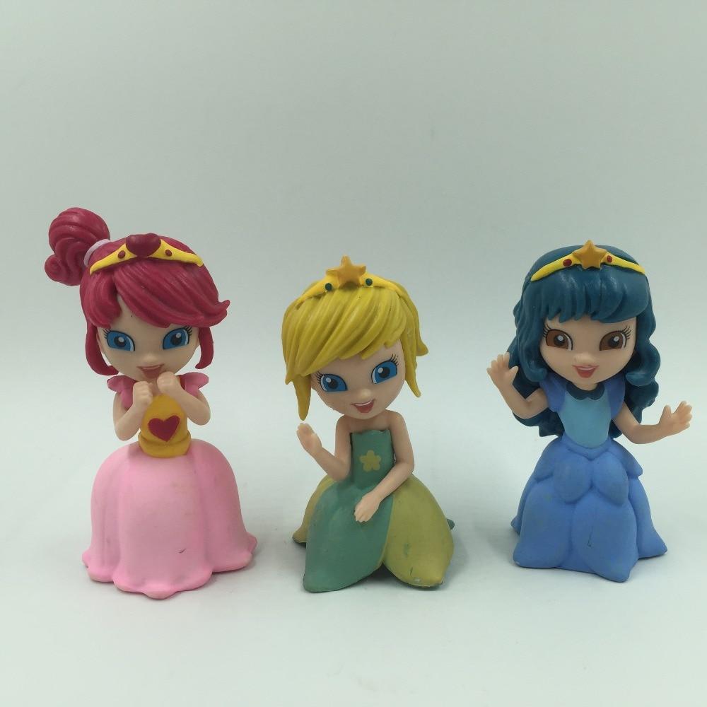 3 PCS Princess doll Magiki COLLECTABLE FIGURES model toys ...