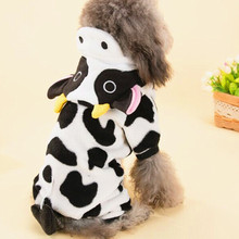Winter Fleece Cow Costumes for Cat