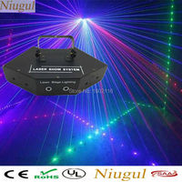 Niugul RGB Laser DMX512 LED Stage Lights Scanner DJ Light Effect Projector Disco Beam Laser Stage lighting effect Free Shipping
