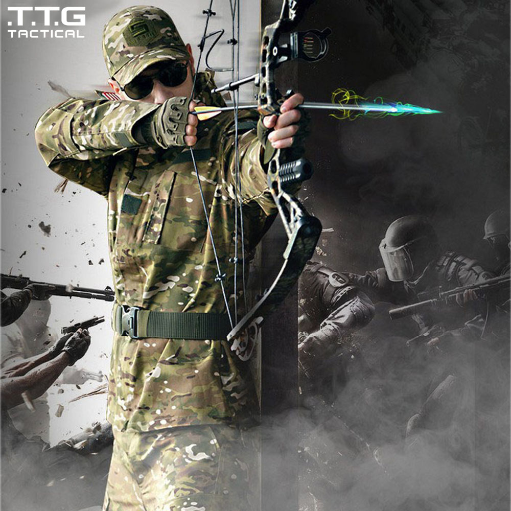 ФОТО US Army BDU Military Uniform Camouflage Tactical Shirts & Tactical Pants CS Field Army Camo Hunting Suit USMC CP ACU ATACS