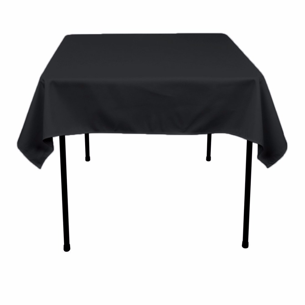Square restaurant tables - Aliexpress Com Buy 1 Piece 140cm Polyester Square Table Cloth Table Cloths For Weddings Home Dining Linen White Red Purple Blue Beige Black V20 From