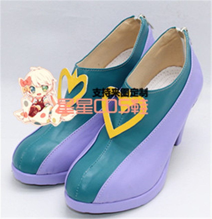 THE IDOLM@STER Cinderella Girls Shibuya Rin Purple Halloween Cosplay Shoes Boots X002