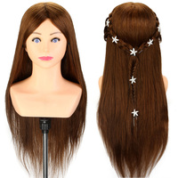 Salon 24 Long Hair 100 Real Human Hair Training Head Styling Head Braiding Practice Dummy Head