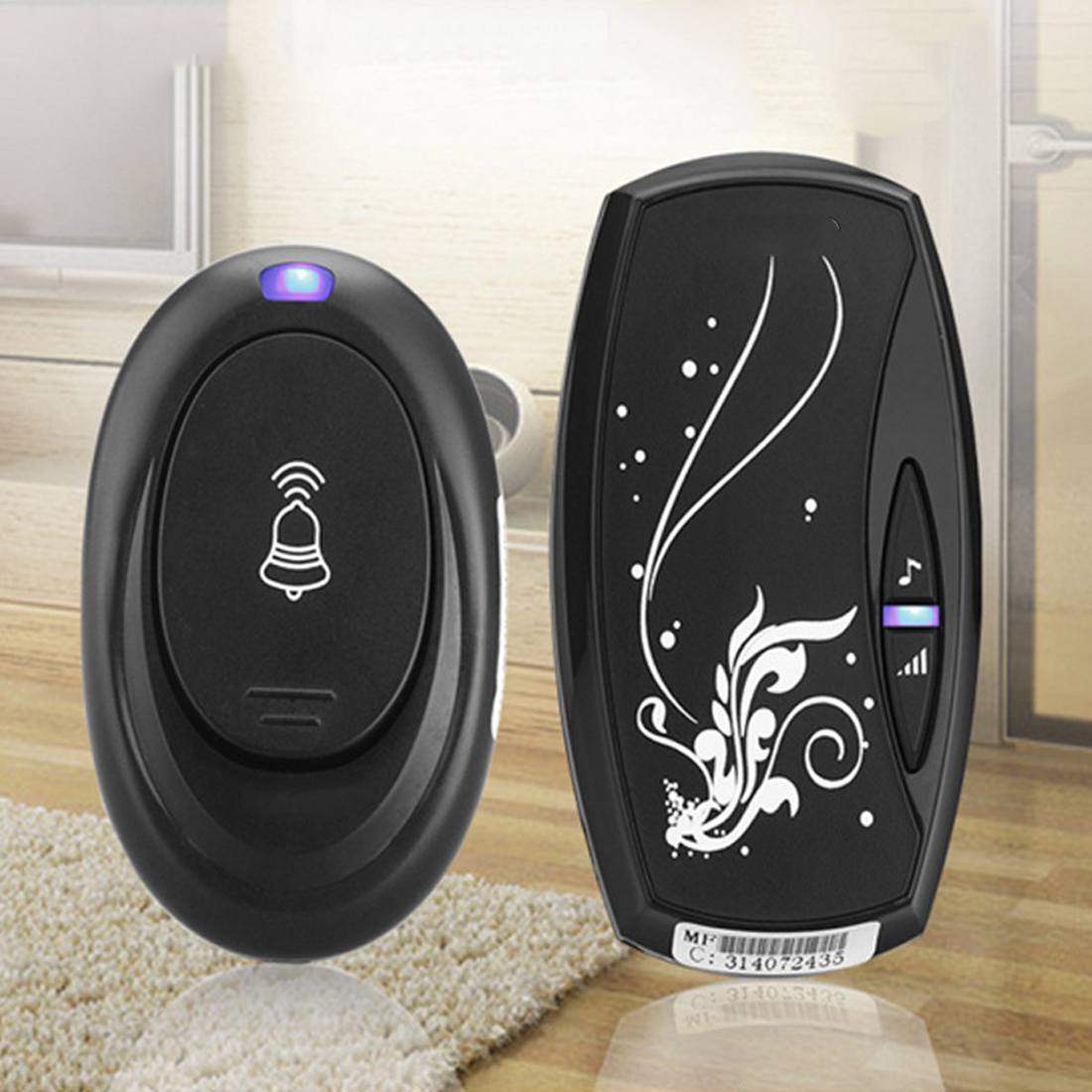 Remote Control Wireless Doorbell 1pc 36 Songs Tune Melody Door Bell 100M Range Waterproof Door Ring 220V Digital LED EU plug wireless cordless digital doorbell remote door bell chime waterproof eu us uk au plug 110 220v