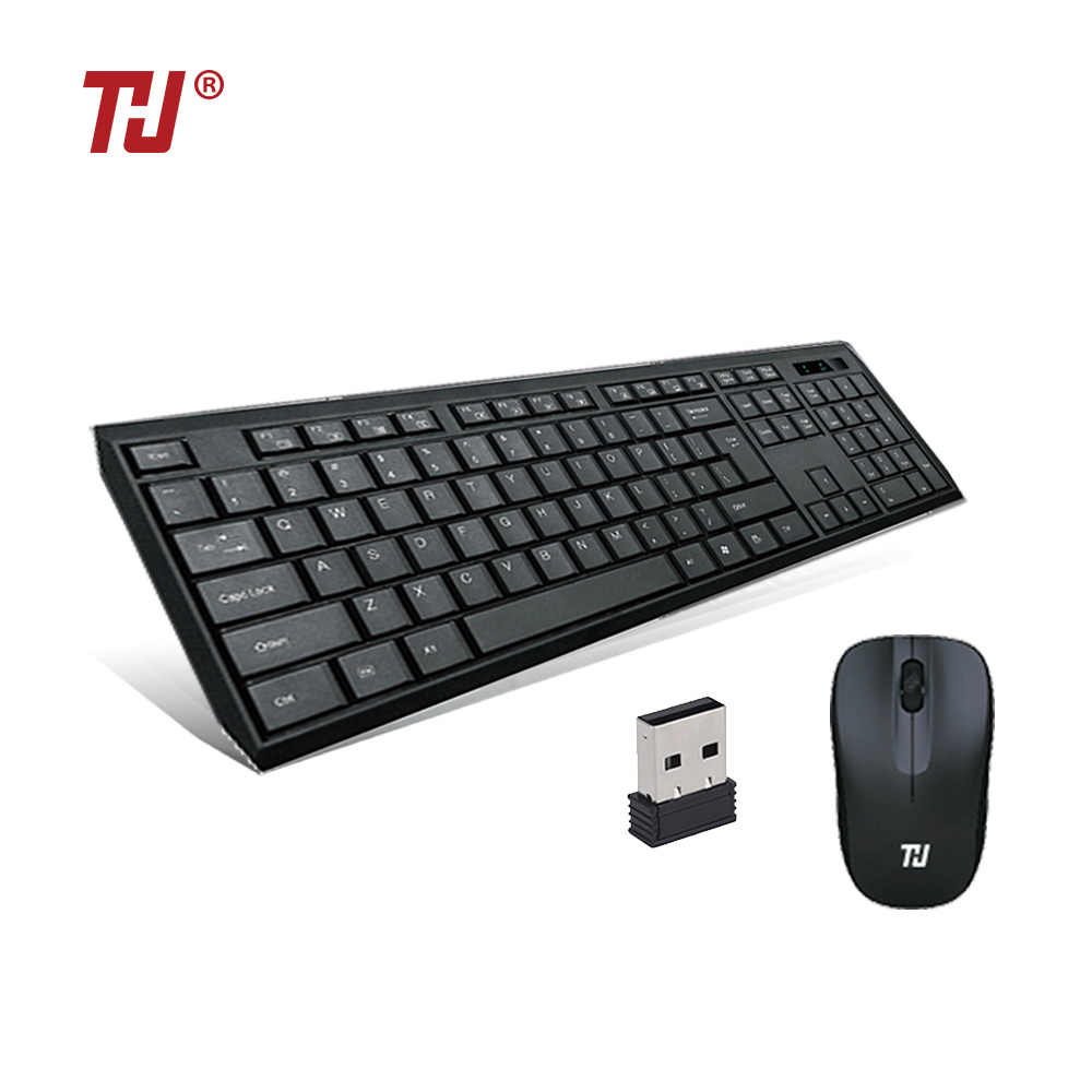 Kam 2.4G Keyboard Nirkabel dan Mouse Mini Multimedia Keyboard Mouse Combo Set untuk Notebook Laptop Mac Desktop PC TV kantor