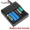 Trustfire 6 ranuras cargador inteligente inteligente de la batería led para 18650 18500 16340 14500 aa aaa ni-mh batería recargable de litio