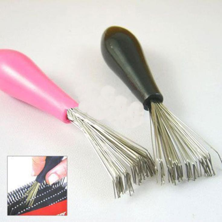 Durable Mini 1pc Hot Sales Comb Hair Brush Cleaner Embeded Tool Salon Home Essential Color Random Metal Hair Brush Cleaner Choice Materials Household Cleaning Cleaning Brushes