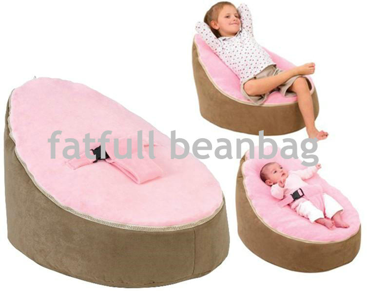 COVER ONLY NO FILLINGS Cozy Child Bean Bag Baby Sleeping No Filled Light Pink Brown Base Seat 2 Straps In Living Room Sofas From Furniture On