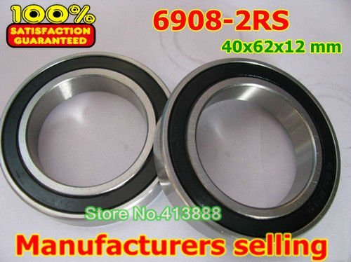 High quality deep groove ball bearing 6908 2RS 6908-2RS 61908-2RS 6908RS 6908RZ 40*62*12 mm 4pcs/lot gcr15 6326 zz or 6326 2rs 130x280x58mm high precision deep groove ball bearings abec 1 p0