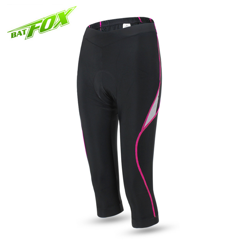 BATFOX Outdoor Womens Cycling Pants Tights Sportswear Sports Gym Fitness Running Yoga Leggings Tight Trousers Pants F225