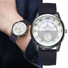 Men Watch Quartz Wristwatches Male Clock Top Brand Luxury Reloj Hombres Leather Wrist Watches Relogio Masculino Men Hodinky(China)