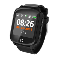 Fashion D200 1.54'' Screen Elder Senior GPS Tracking Watch IP68 Sport Heart Rate Blood Pressure SOS Calls Fall Medication Alarm.