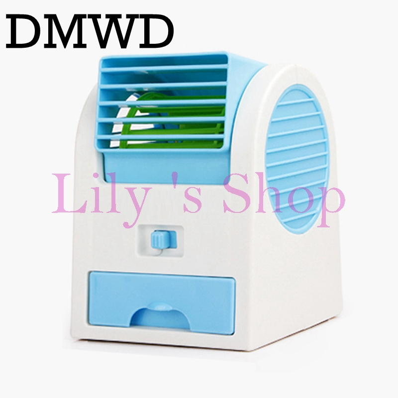 DMWD Usb battery dual-use mini Conditioner cooling fan dormitory Office desktop Bladeless air conditioning fans Humidification dual usb cooling fans