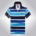 Высокое качество чистого хлопка случайные shark men polo shirt хлопок полосатый отворотом camisa polo Tace & Shark бренд одежды solid polo 912