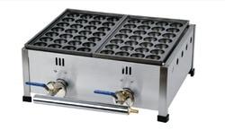 free shipping Gas type 40MM size hole 2 plates Japanese style Takoyaki Machine