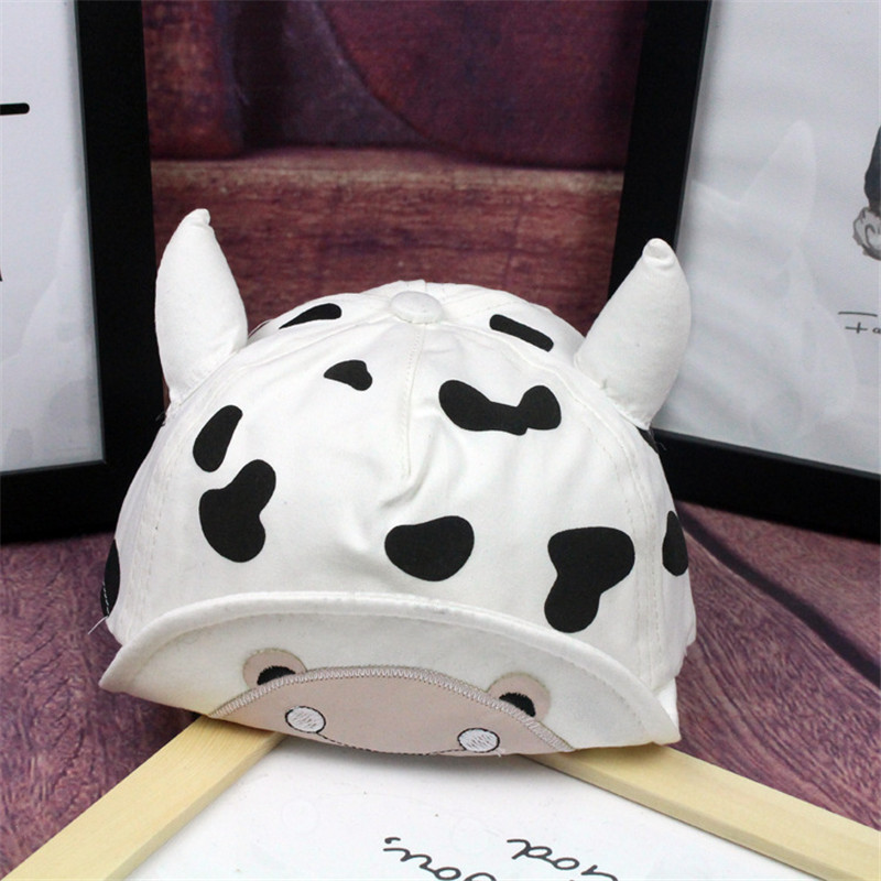 2017 Fashion Baby Cartoon Cow Hat Boy Baseball Caps For Girls Cap Hats Snapback Hip-hop Cap Kids Unisex Sun