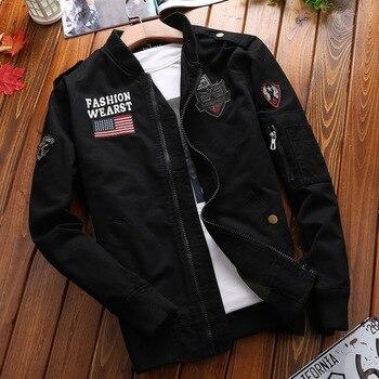 Military Jacket Men Spring Autumn Mens Coat Casual Warm Bomber Cotton Baseball Uniform Zipper