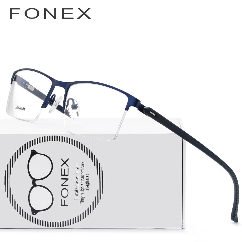 24fff6c09c TR90 Titanium Optical Glasses Frame Men 2018 Women Half Square Myopia Eye  Glass Prescription Eyeglasses Korean Screwless Eyewear-in Eyewear Frames  from ...