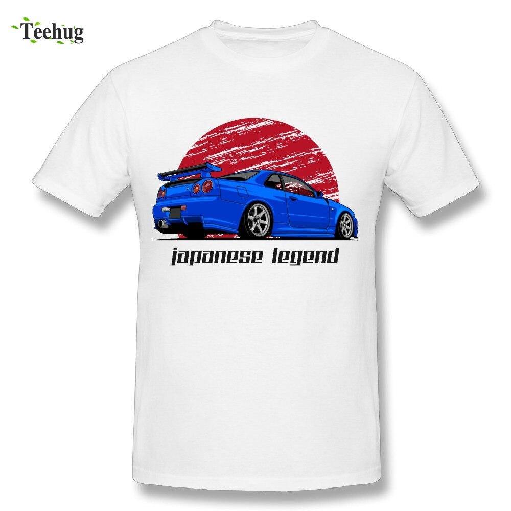 À la mode Mâle Skyline GTR R34 T Shirt D'été Unique Imprimé Graphique Pour Homme Gentil T Chemises