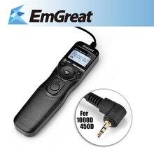Dispara RS-60E3 Timer Cable de Control Remoto Disparador Autofoto TC-C1 para Canon 60D 70D 600D 1000D G11 550D 650D 700D 750D 760D