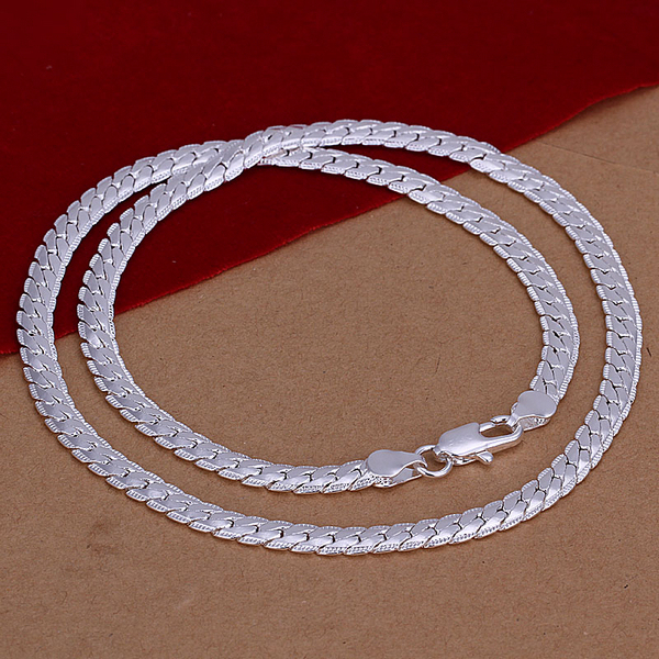 Statement Necklaces Snake Chain 925 Silver Mens Necklace Fashion Men Sterling Silver 5MM Chains Jewelry Christmas Gifts SPCN130