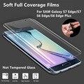 S7 Película Borde!! protector de pantalla ultra delgada suave cobertura completa para samsung galaxy s7 edge/s7/s6/edge/más alto transparente apretado papel de aluminio