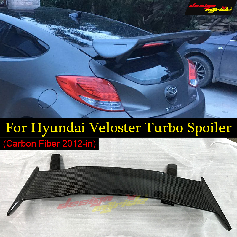 Designmyride Fit for HyundaI Veloster Turbo Spoiler Ver2 Gt Wing Style carbon fiber rear spoiler rear wing Roof Spoiler 2011 in in Spoilers Wings from Automobiles Motorcycles