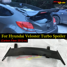 Designmyride Fit for HyundaI Veloster Turbo Spoiler Ver2 Gt-Wing Style  carbon fiber rear spoiler wing Roof 2011-in