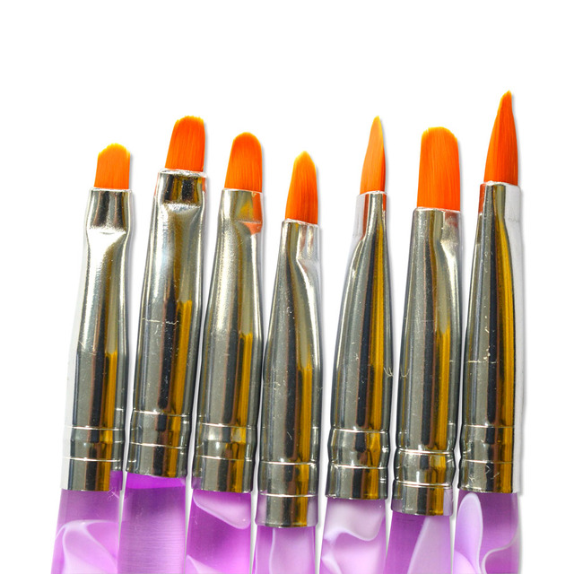 7pcs/sets No.4,6,8,10,12,14 Nail Art Brush Pen Kits for UV Gel Polish Drawing Painting Nail Accessory TRNAO21